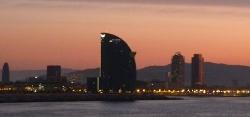 En entrant dans le port de Barcelone