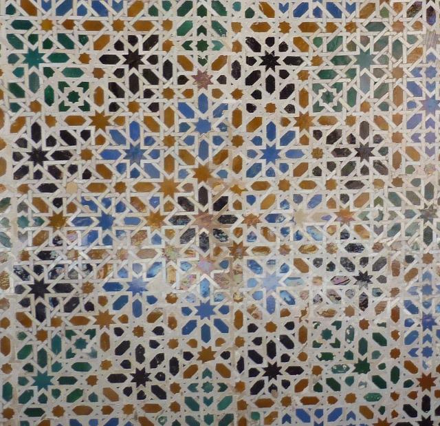 Séville, L'Alcazar. Détail mosaïque